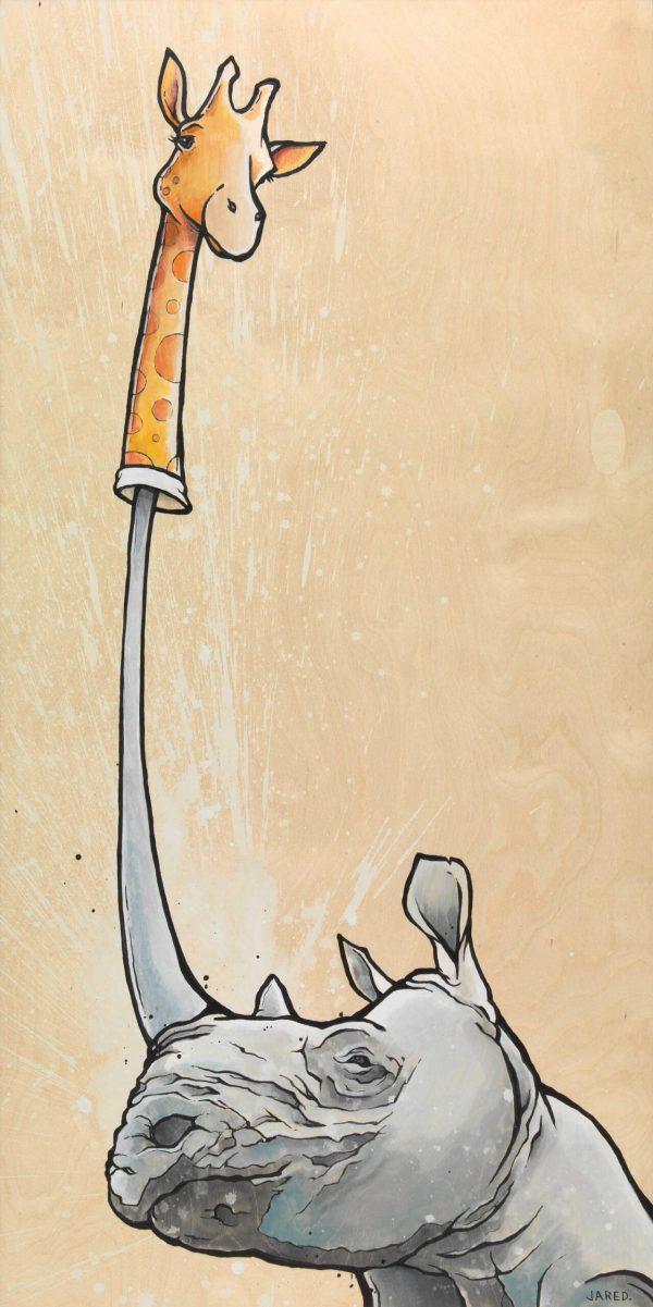 Rhino Giraffe puppet horn